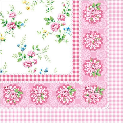 20 Servietten - 33 x 33 cm ,  Blumen - Rosen,  Everyday,  lunchservietten