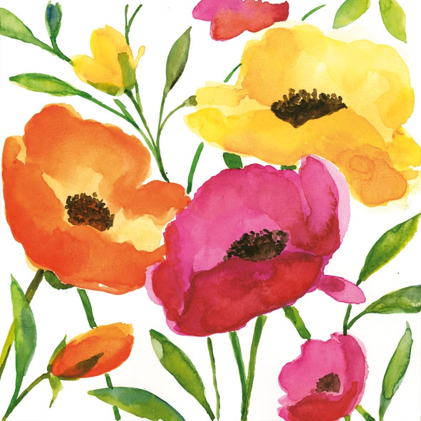 Lunch Servietten AQUARELL POPPY