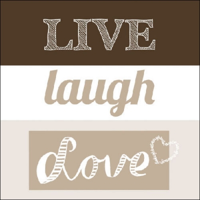 Lunch Servietten LIVE LAUGH LOVE SAND