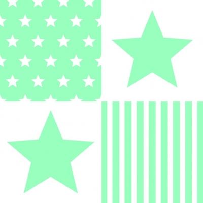 Servietten,  Sonstiges - Muster,  Everyday,  lunchservietten,  Sterne,  Streifen,  Linien
