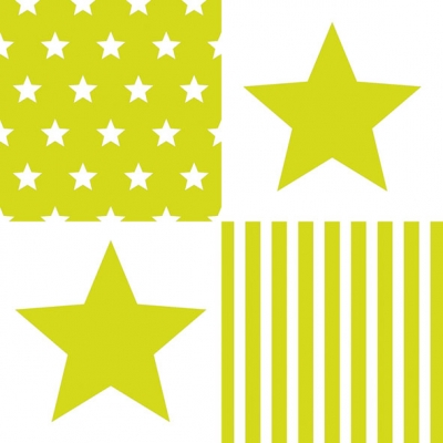 Lunch Servietten STAR STRIPES GREEN