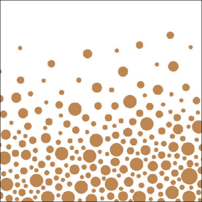 Lunch Servietten Sparkling Dots Bronze