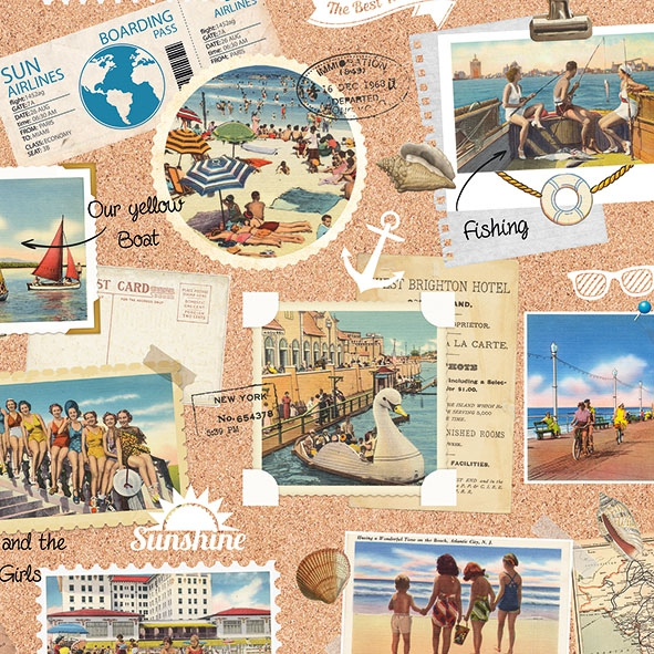 Servietten 33x33 cm - Vacation Scrapbook