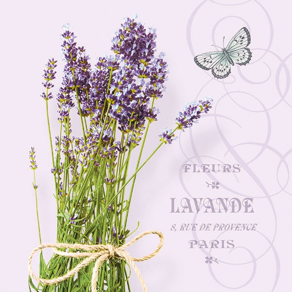 Servietten 33x33 cm - Bunch Of Lavender Lila