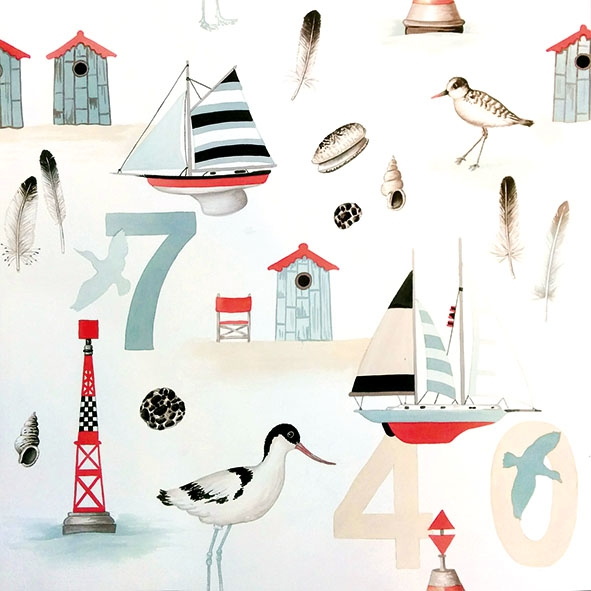 Servietten 33x33 cm - Beach Numbers