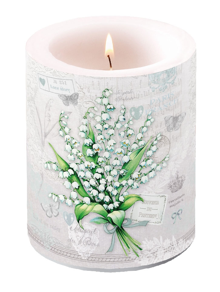Dekorkerze - Lily of the Valley