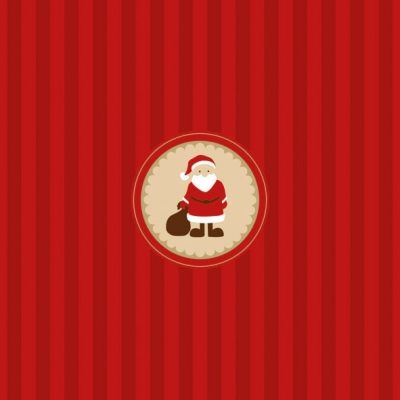Lunch Servietten Santa Medallion
