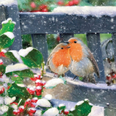 Lunch Servietten Lovely Robins