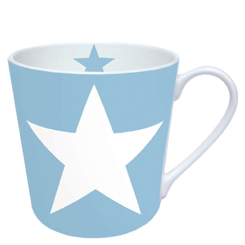 Porzellan-Henkelbecher Star Light Blue