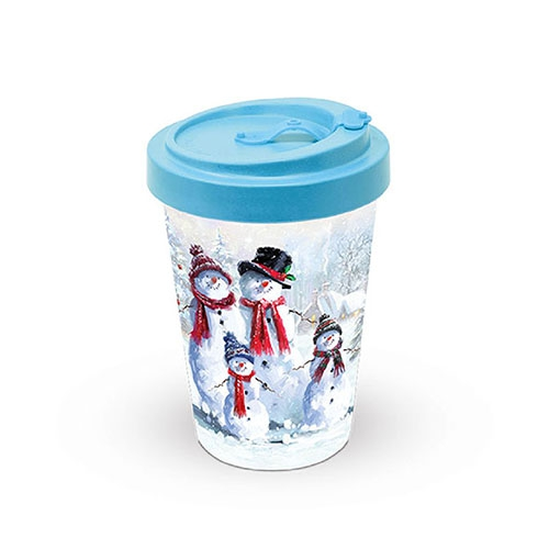 Bamboo mug To-Go - Snowman With Hat