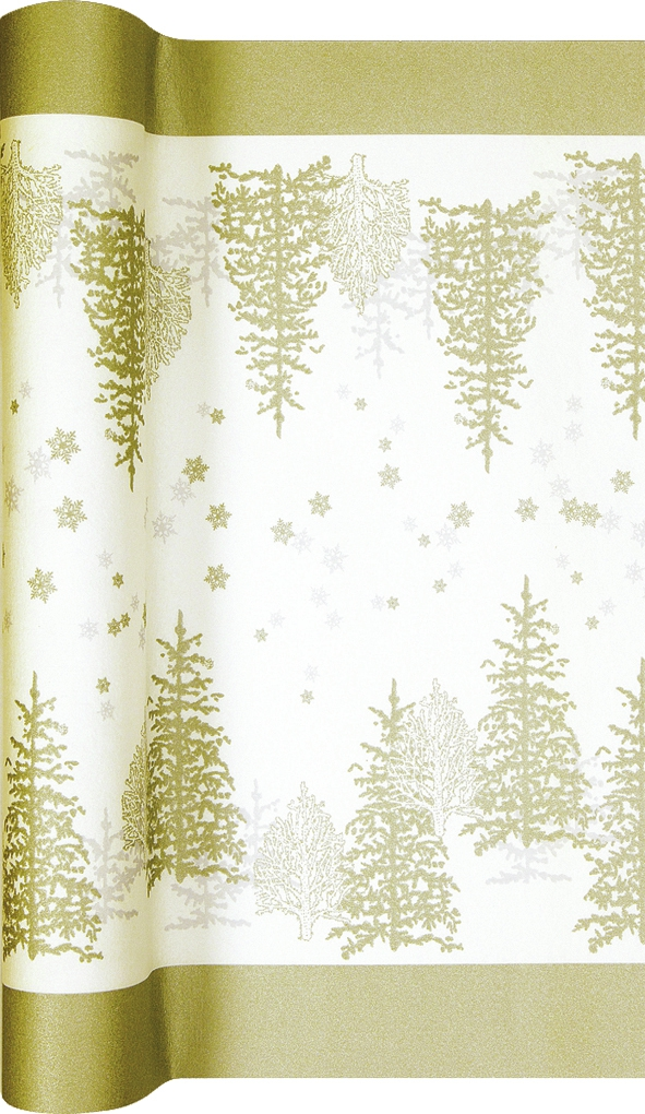Tablerunners - Tree and Snowflakes gold
