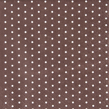 Cocktail Servietten Mini Dots brown/white