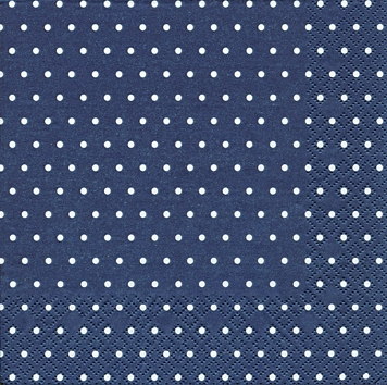 Cocktail Servietten Mini Dots dark blue