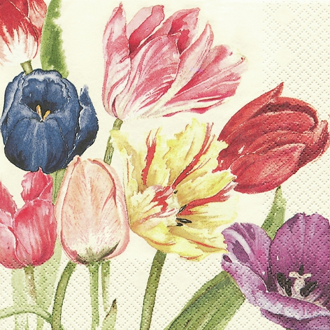20 Servietten - 33 x 33 cm Amsterdam Tulips,  Everyday,  lunchservietten