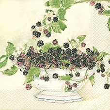 Home Fashion,  Früchte - Brombeeren,  Everyday,  lunchservietten,  Brombeeren