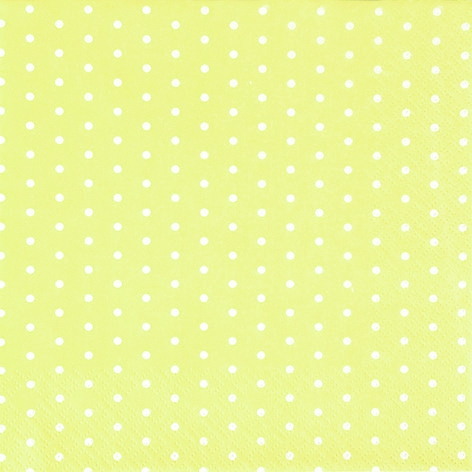 Lunch Servietten Mini Dots yellow/white