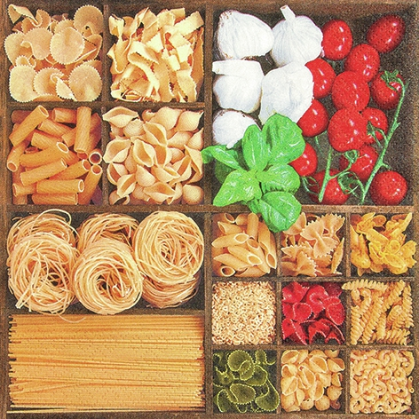 Servietten / Essen,  Essen - Pasta,  Everyday,  lunchservietten,  Nudeln