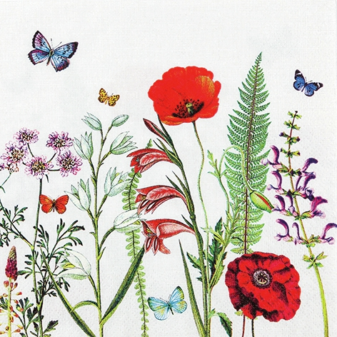 Servietten 33x33 cm - Meadow in Bloom
