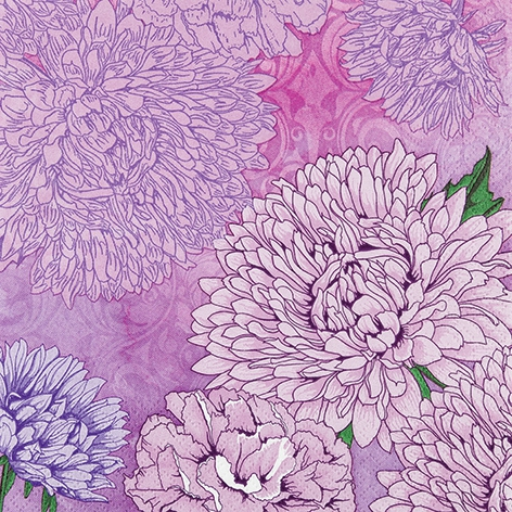 Servietten 33x33 cm - Pure and Strong lilac