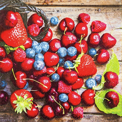 Servietten 33x33 cm - Tasty Berries