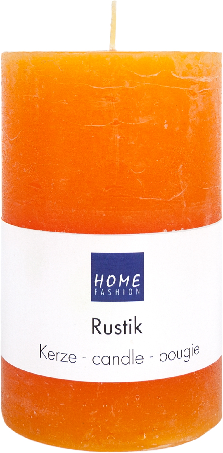 Stumpenkerze Rustik orange
