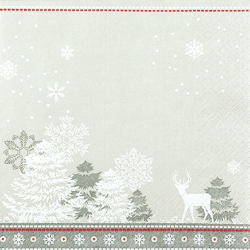 Cocktail Servietten Winter Silhouettes