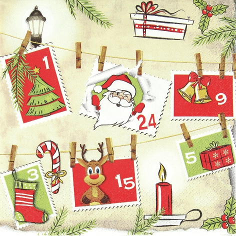 Lunch Servietten Advent Calender