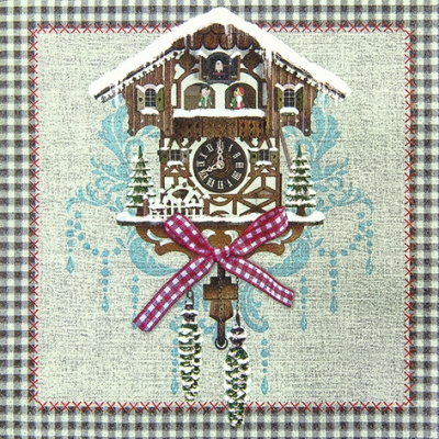 Lunch Servietten Cuckoo Clock