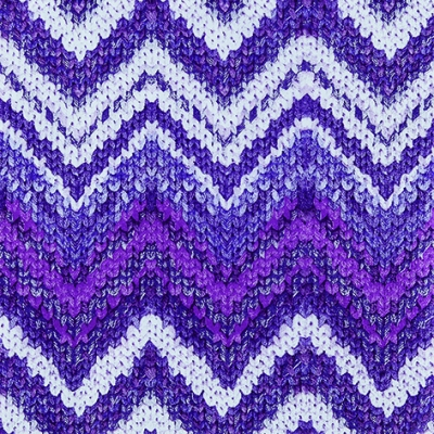Lunch Servietten Knitted Chevron berry
