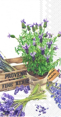 Servietten Blumenmotive,  Blumen - Lavendel,  Everyday,  lunchservietten,  Lavendel