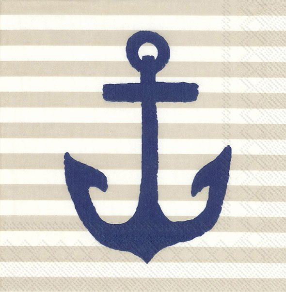 Servietten 25x25 cm - YACHT CLUB ANCHOR Bettwäsche