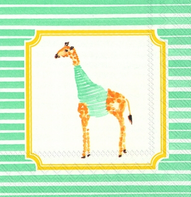 Servietten 33 x 33 cm,  Tiere - Giraffen,  Everyday,  cocktail servietten,  Giraffen