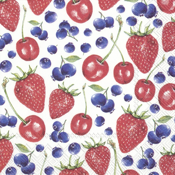Servietten 25x25 cm - LITTLE LOVELY BERRIES