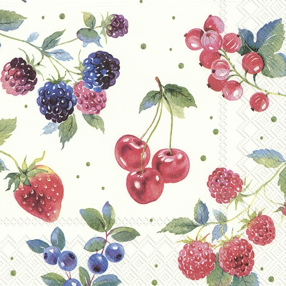 Servietten 25x25 cm - RED SUMMER FRUITS