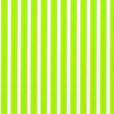 Lunch Servietten Stripes again lime