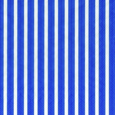 Lunch Servietten Stripes again dark blue
