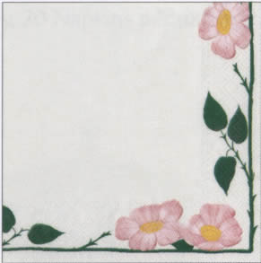 20 Servietten - 33 x 33 cm V&B Wildrose,  Blumen - Rosen,  Sonstiges - Porzellanmotive,  Everyday,  lunchservietten,  V&B Wildrose