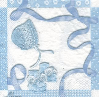 20 Servietten - 33 x 33 cm BABY SHOWER blue                        ,  Everyday,  lunchservietten
