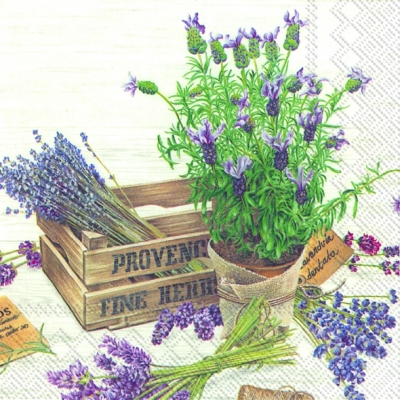 Servietten / Essen,  Blumen - Lavendel,  Pflanzen,  Everyday,  lunchservietten