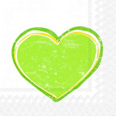Lunch Servietten HEARTBEAT light green