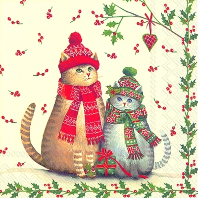 Lunch Servietten CHRISTMAS CATS