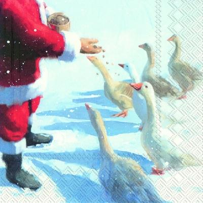 IHR Ideal Home Range,  Tiere -  Sonstige,  Weihnachten - Weihnachtsmann,  Weihnachten,  lunchservietten,  Weihnachtsmann,  Gänse