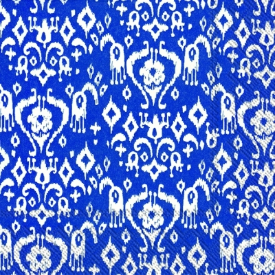 Lunch Servietten IKAT PATTERN dark blue