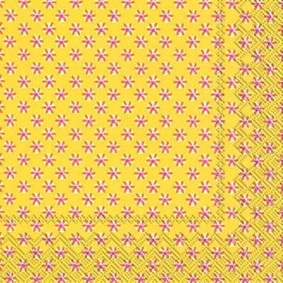 Lunch Servietten CUTE PATTERN yellow