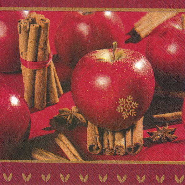 Servietten 33x33 cm - CHRISTMAS APPLE
