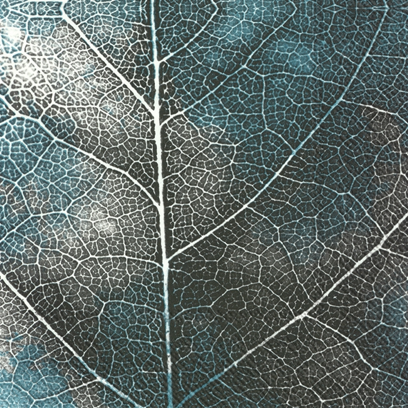 Servietten 33x33 cm - THE LEAF blue