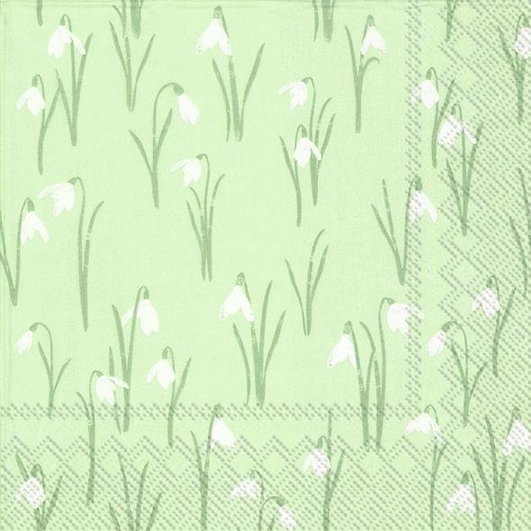 Servietten 33x33 cm - ELEGANT SPRING light green