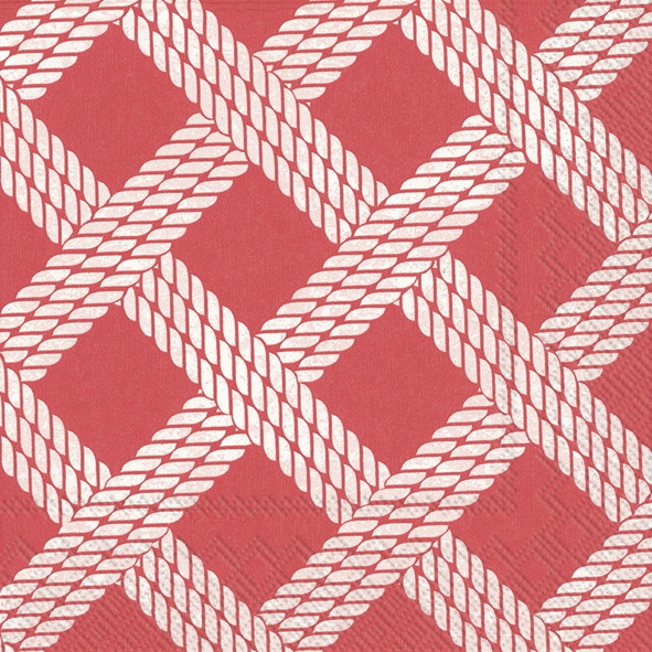 Servietten 33x33 cm - SAILOR´S ROPE red