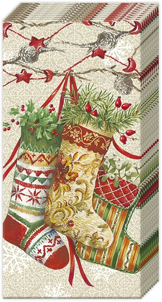 Taschentücher DECORATIVE STOCKINGS linen