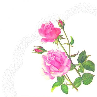 Servietten - Rund A ROSE FOR YOU